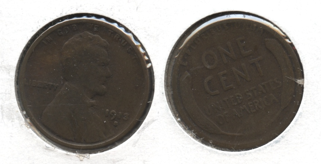 1913-S Lincoln Cent Good-4 #ab