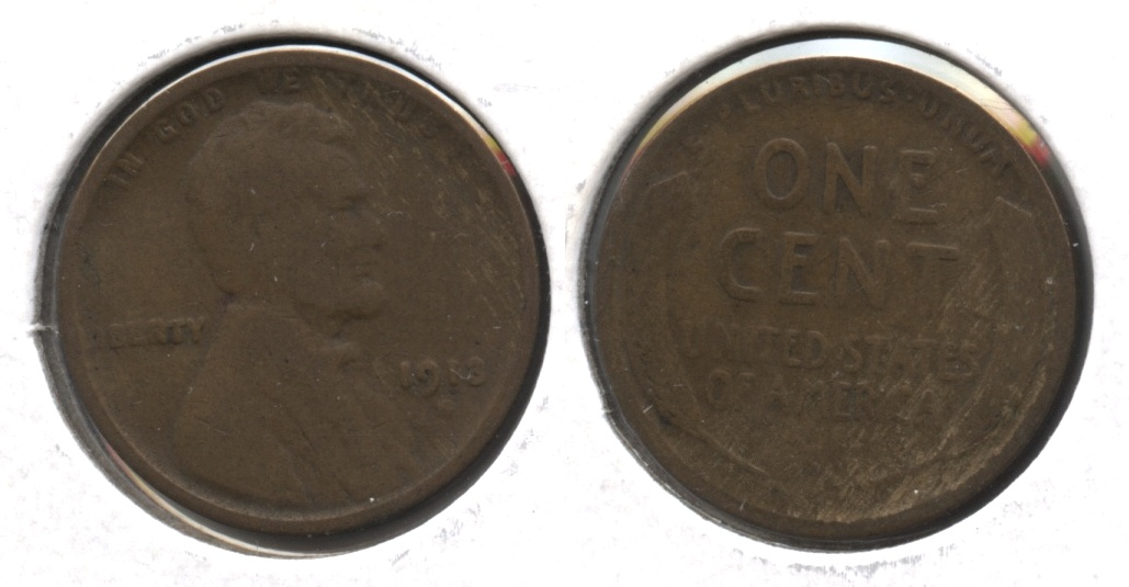 1913-S Lincoln Cent Good-4 #j