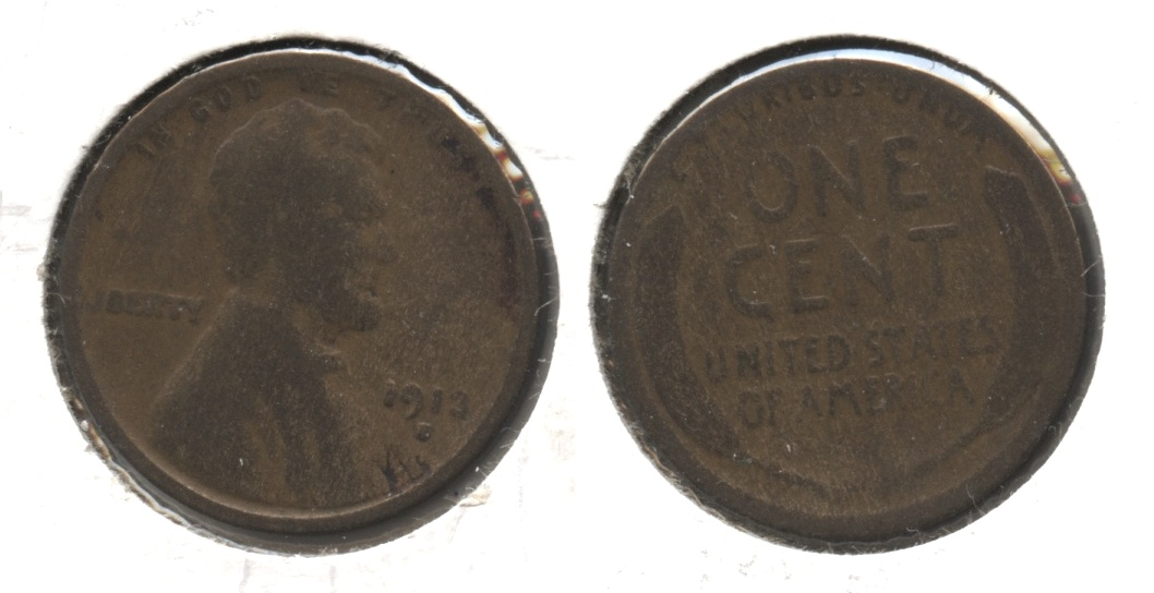 1913-S Lincoln Cent Good-4 #k