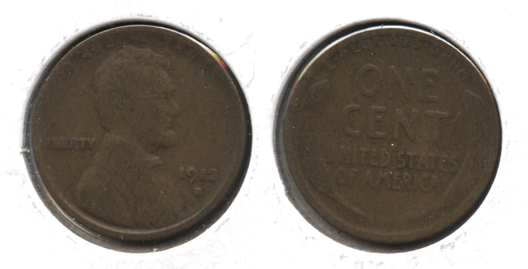 1913-S Lincoln Cent Good-4 #u