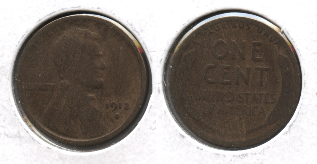 1913-S Lincoln Cent Good-4 #z