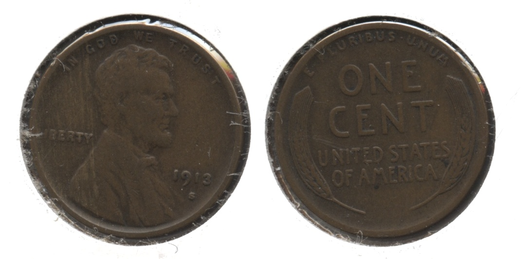 1913-S Lincoln Cent VF-20 #b