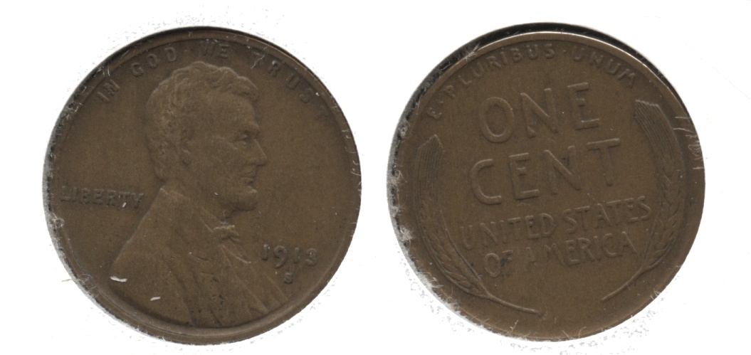 1913-S Lincoln Cent VF-20 #c