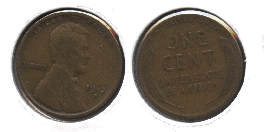 1913-S Lincoln Cent VG-8 #d