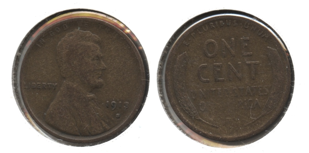 1913-S Lincoln Cent VG-8 #j