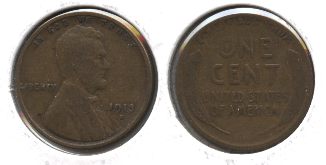 1913-S Lincoln Cent VG-8 #p