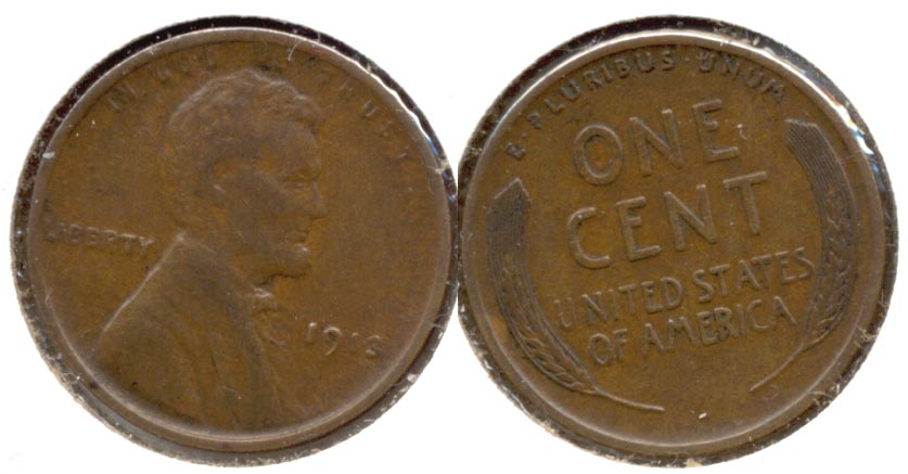 1913 Lincoln Cent EF-40