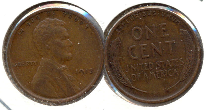 1913 Lincoln Cent EF-45 a
