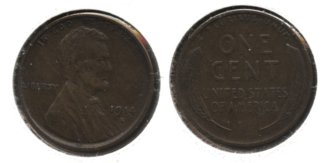 1914-S Lincoln Cent EF-40 #b