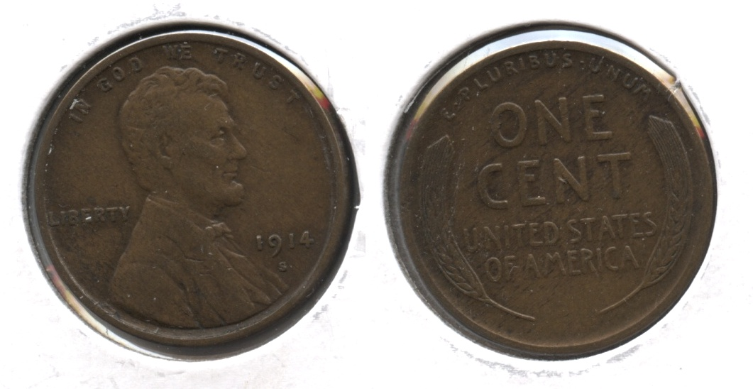 1914-S Lincoln Cent EF-40 #d