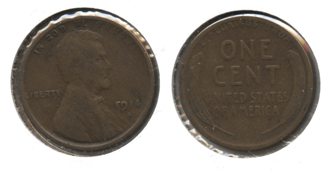 1914-S Lincoln Cent Good-4 #d