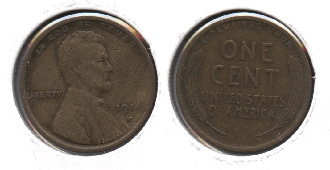 1914-S Lincoln Cent VF-20 #b