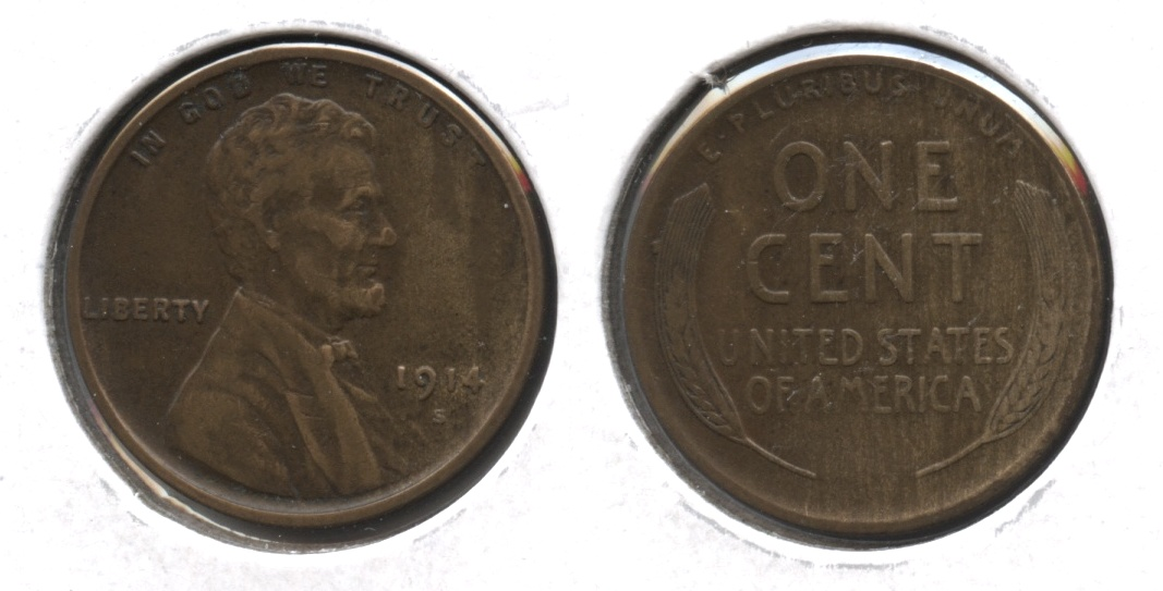 1914-S Lincoln Cent VF-20 #d