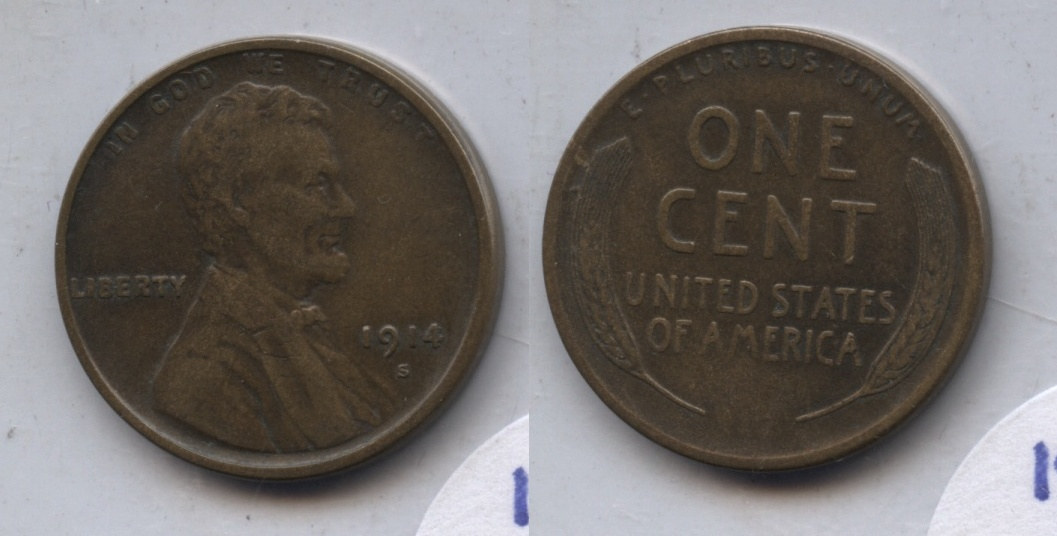 1914-S Lincoln Cent VF-20 #m
