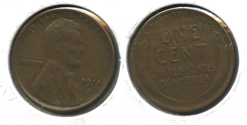 1914-S Lincoln Cent VF-20 #n