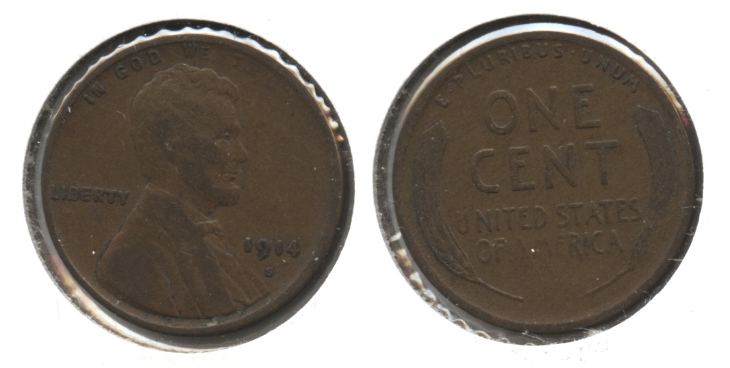 1914-S Lincoln Cent VG-8 #m