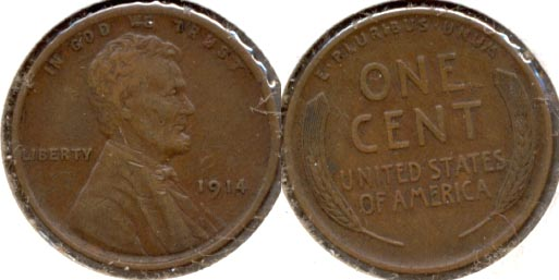 1914 Lincoln Cent EF-40