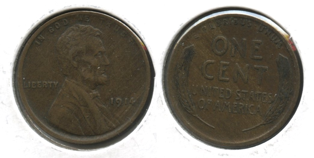 1914 Lincoln Cent EF-40 #n