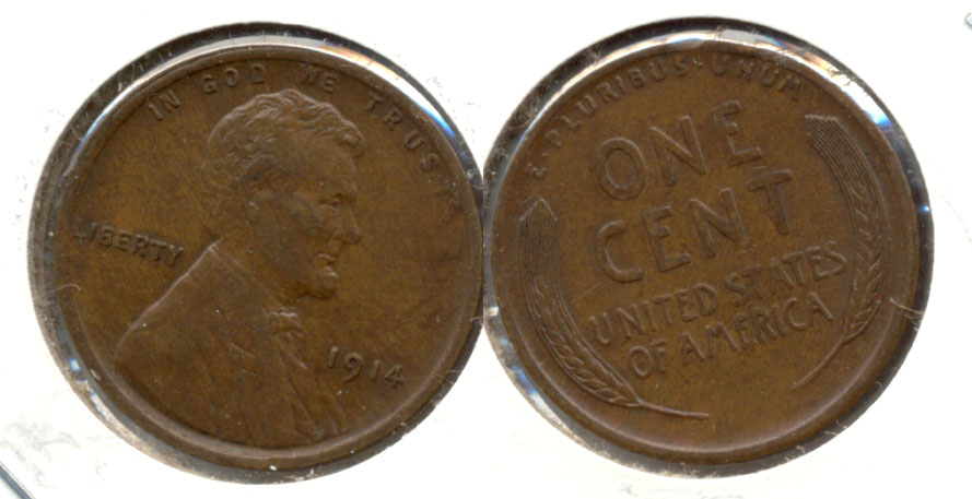 1914 Lincoln Cent EF-45