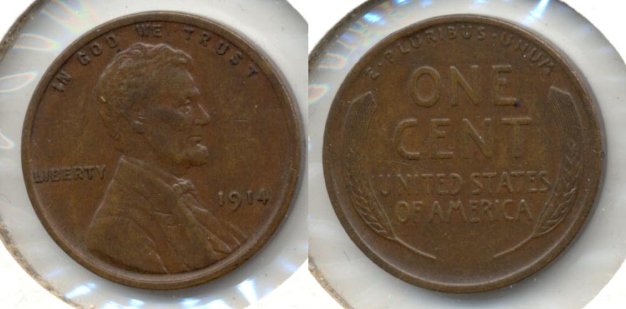 1914 Lincoln Cent EF-45 d