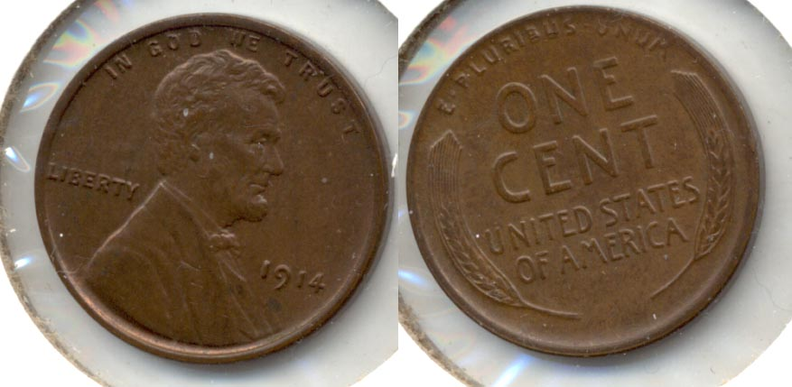 1914 Lincoln Cent MS-63 Brown