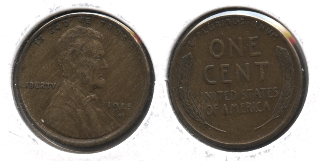1915-S Lincoln Cent EF-40 #f