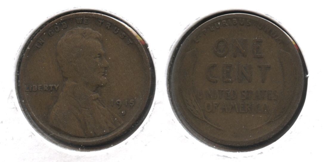 1915-S Lincoln Cent Good-4 #b