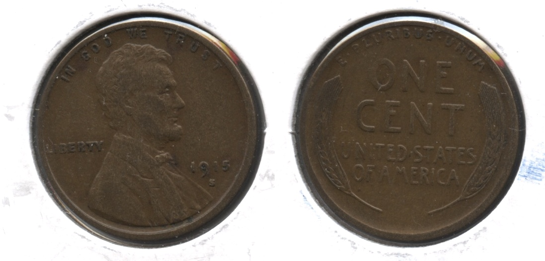 1915-S Lincoln Cent VF-20 #aa