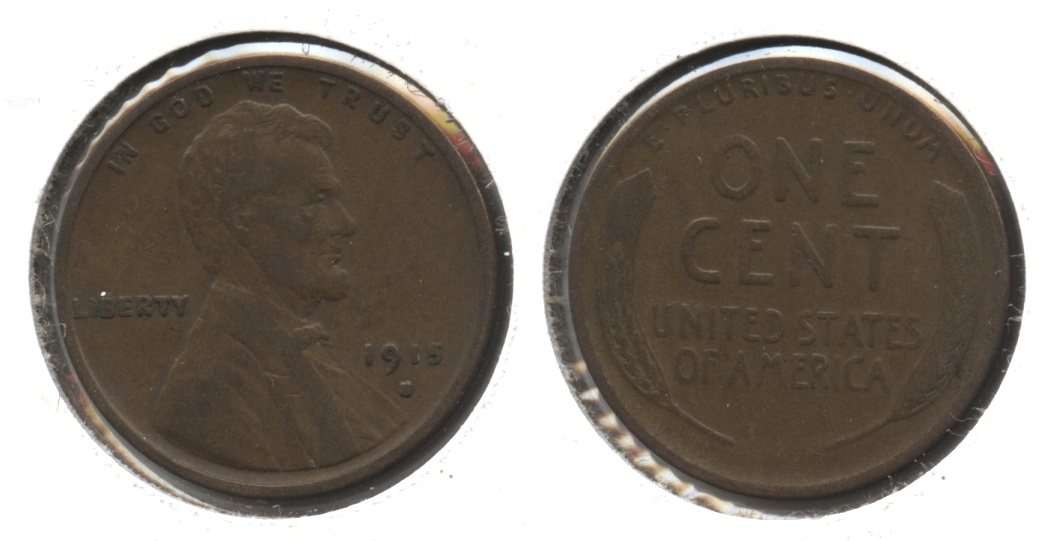 1915-S Lincoln Cent VG-8 #f