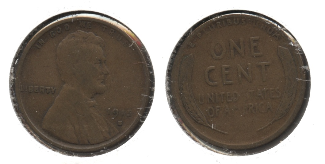 1915-S Lincoln Cent VG-8 #h