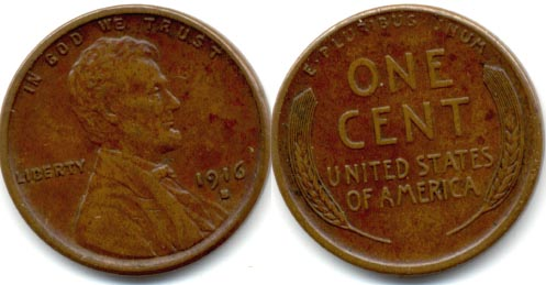 1916-S Lincoln Cent EF-40 a