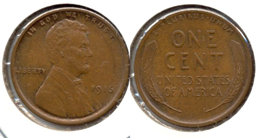 1916 Lincoln Cent MS-60 Brown