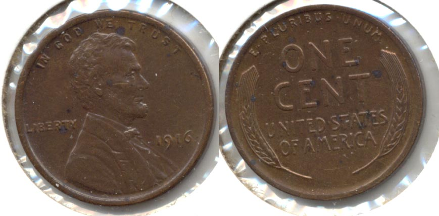 1916 Lincoln Cent MS-60 Brown a