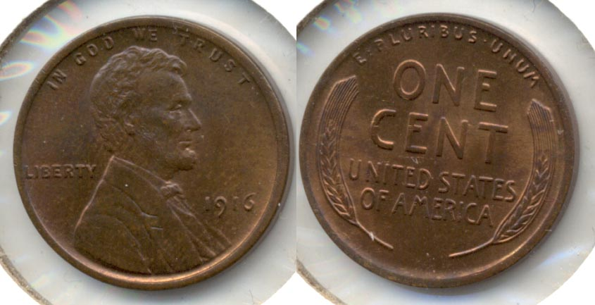 1916 Lincoln Cent MS-64 Brown