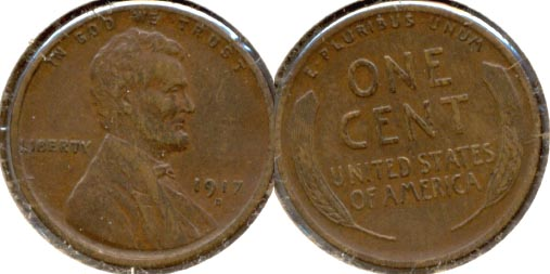 1917-D Lincoln Cent EF-40 a