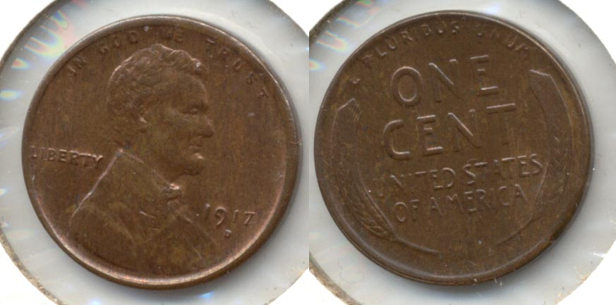 1917-D Lincoln Cent MS-63 Brown