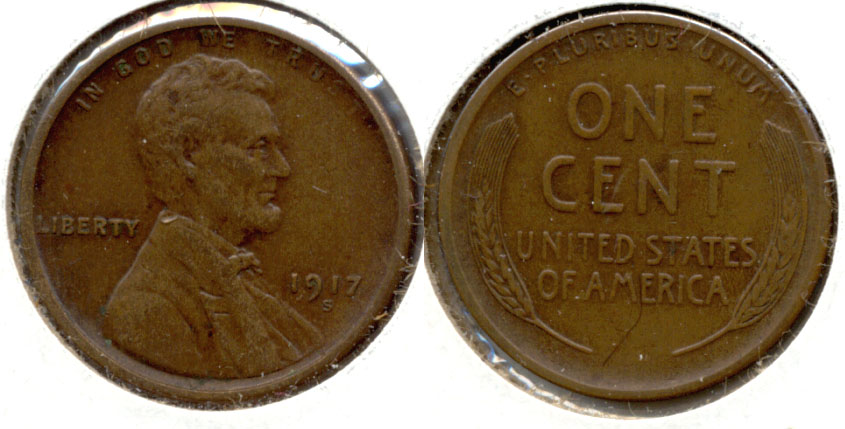 1917-S Lincoln Cent EF-40