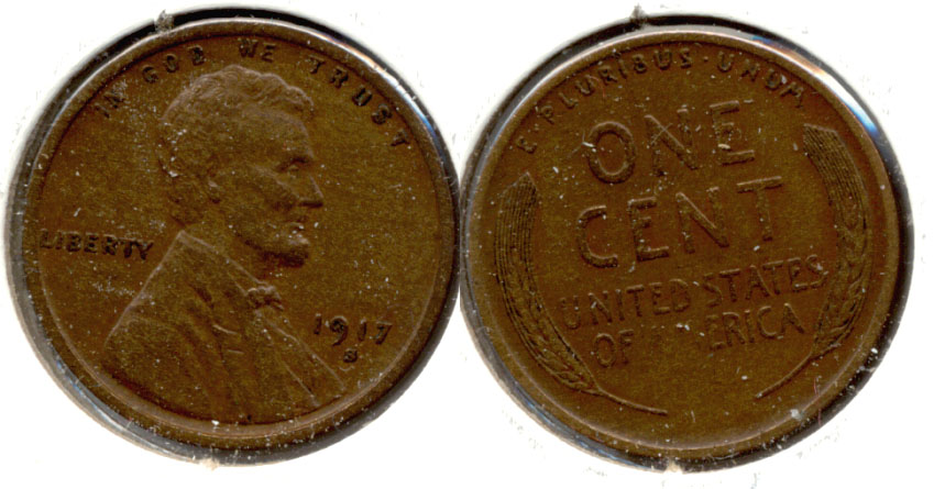 1917-S Lincoln Cent EF-40 c