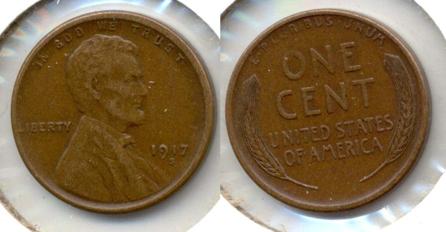 1917-S Lincoln Cent EF-40 d