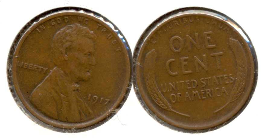 1917 Lincoln Cent EF-45