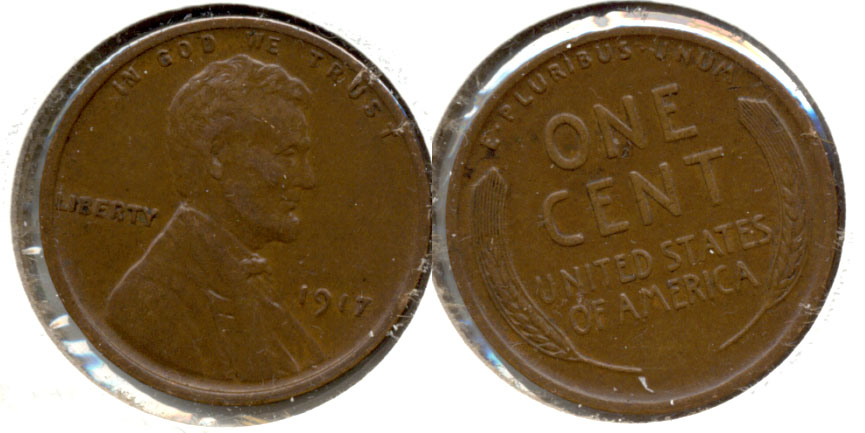 1917 Lincoln Cent EF-45 b