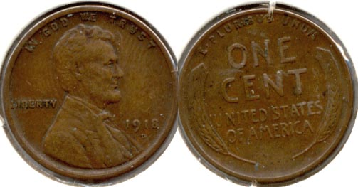 1918-D Lincoln Cent EF-40