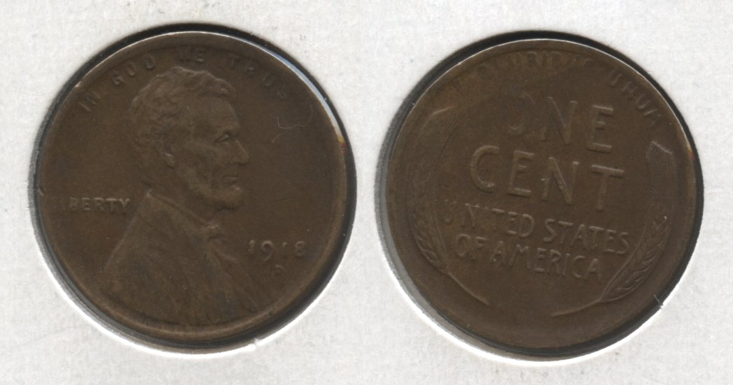 1918-D Lincoln Cent EF-40 #g