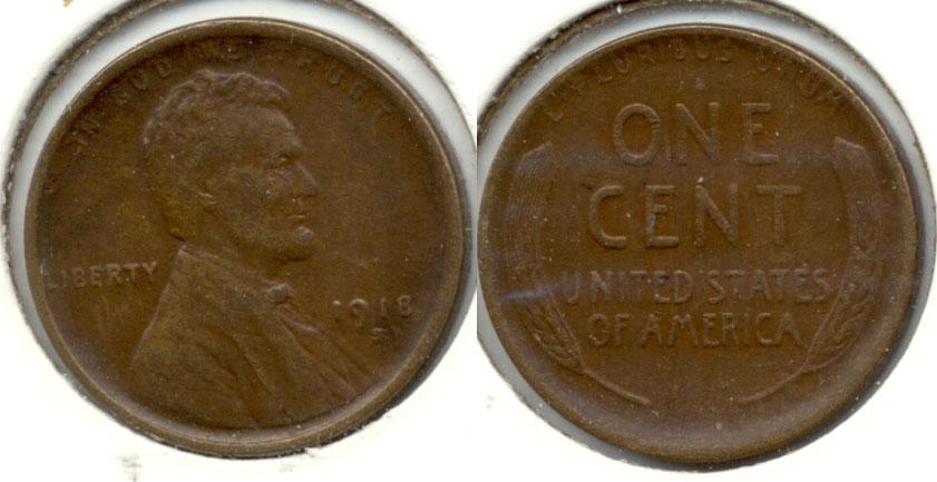 1918-S Lincoln Cent EF-40