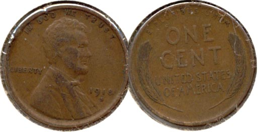 1918-S Lincoln Cent EF-40 d
