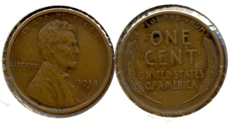 1918-S Lincoln Cent EF-40 m