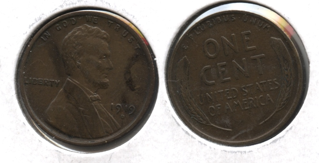 1919-D Lincoln Cent AU-55 Uneven Color