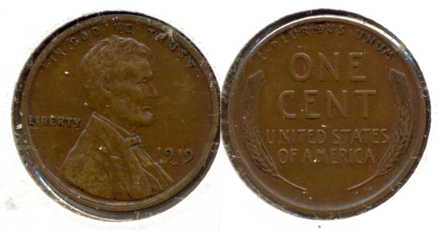 1919-S Lincoln Cent AU-50 i