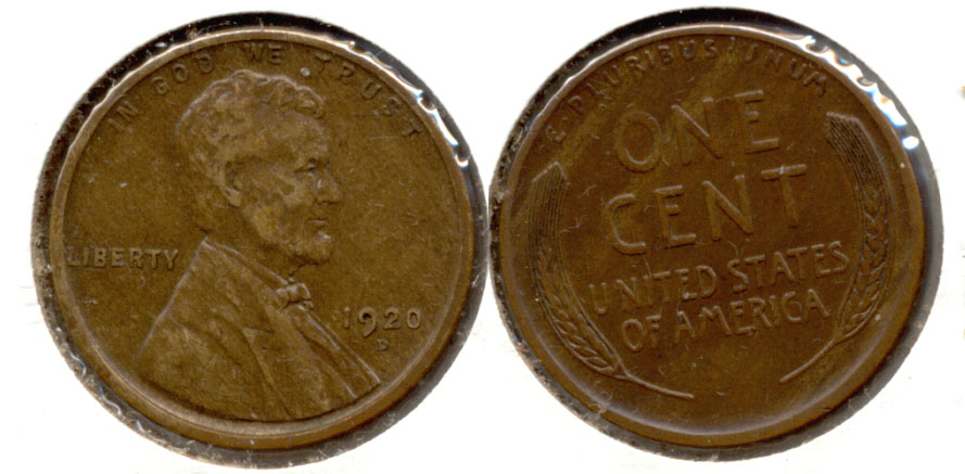 1920-D Lincoln Cent EF-40 a
