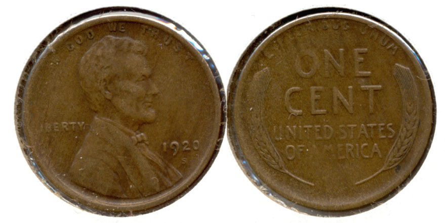 1920-S Lincoln Cent EF-40